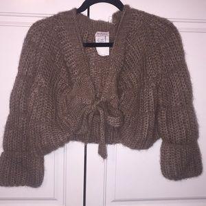 Max & Co Mohair sweater cape boho